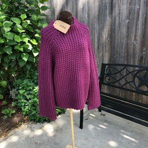 Plum knit sweater